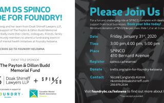 Spin Co Event in support of Foundry for Mental Health